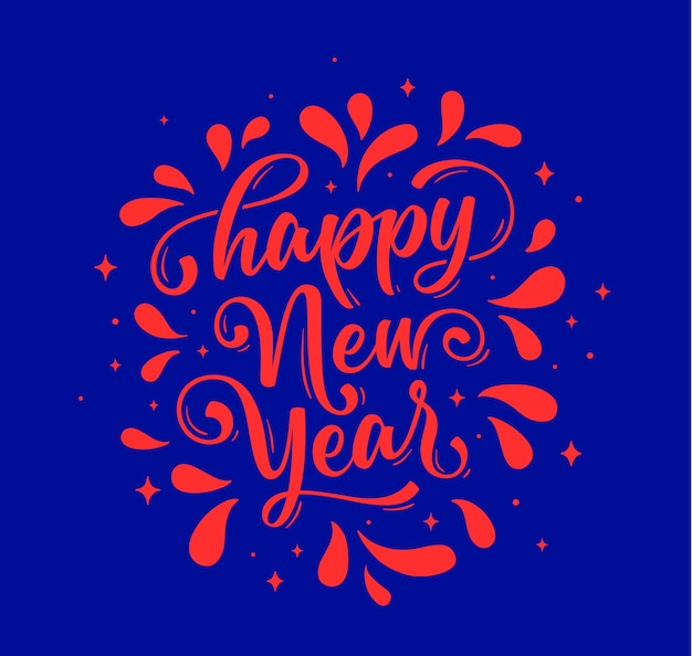 Happy new year. lettering text for happy new year or merry christmas.