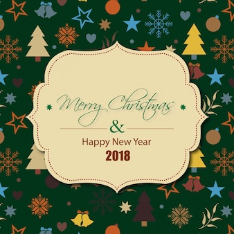 Happy new year, merry chrismas ,2018 desgin