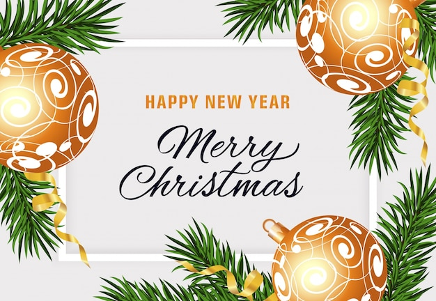 Happy new year and merry christmas text