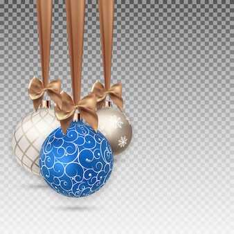Happy new year and merry christmas winter background with ball  vector illustration eps10