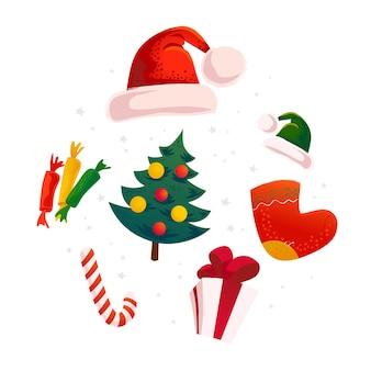 新年あけましておめでとうございますメリークリスマスデザイン要素