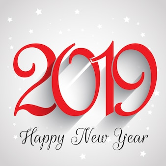 Happy New Year number background