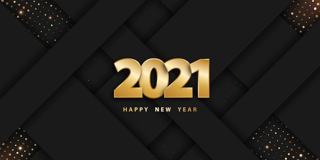 Happy new year paper cut background