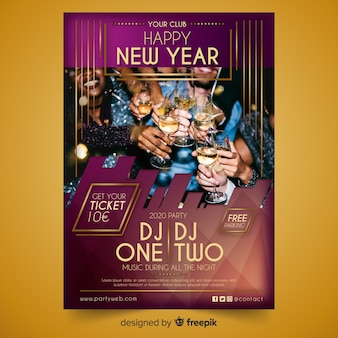 Happy new year party night with dj