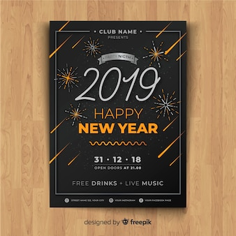 Happy new year poster for 2019