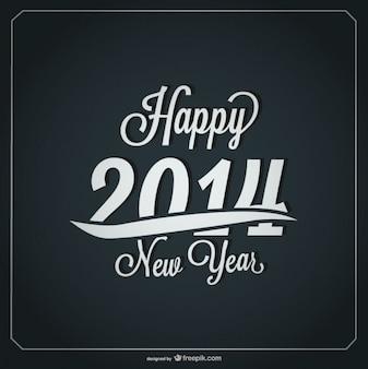 Happy New Year Retro Card Design