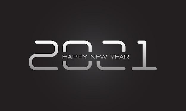 カウントダウンホリデーフェスティバルのお祝いのための新年あけましておめでとうございますシルバー番号と灰色のテキスト