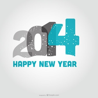 Happy New Year Snowing Design