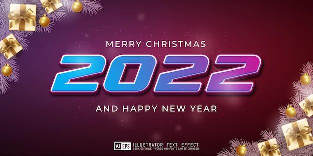 Happy new year text effect editable 3d text style