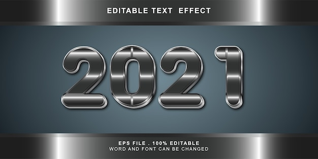 Happy new year text effect editable