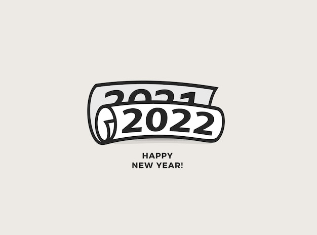 С новым годом для nmbers рулон газеты значок брошюра поздравительная открытка или календарь креативная обложка