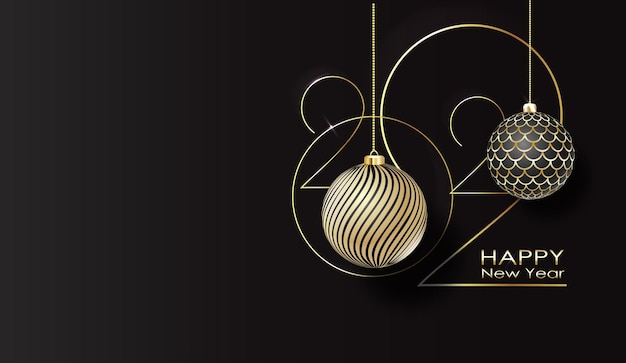 Happy new year typography poster happy new year banner with  numbers