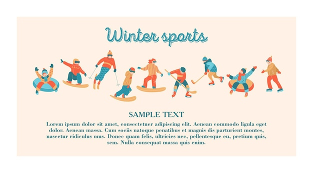 Happy new year. winter sports and entertainment.