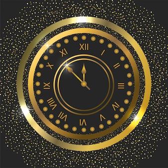 С новым годом в стиле часов