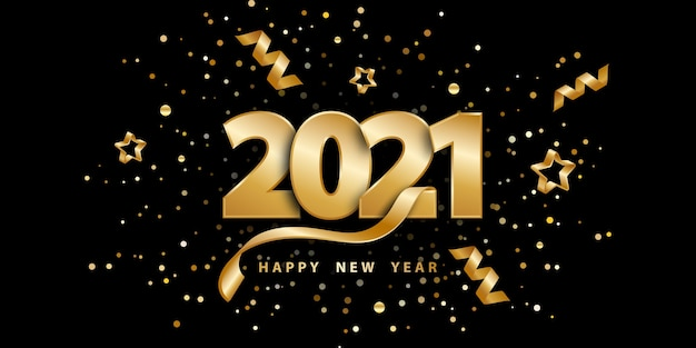 황금 숫자와 색종이와 새해 복 많이 받으세요