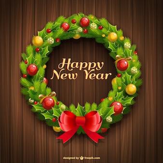 Happy new year wreath