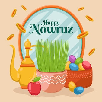 Happy nowruz illustration
