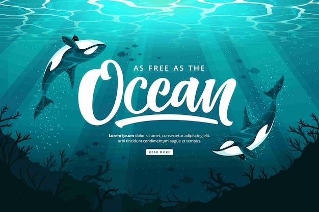 Happy oceans day background