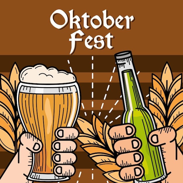 Happy oktoberfest celebration