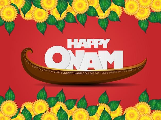 幸せなオナムのお祝いの背景