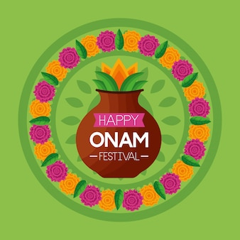 Happy onam festival celebration