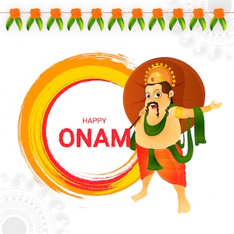Happy onam greeting card design.