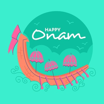 Happy onam illustration
