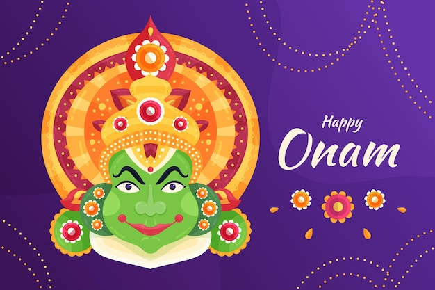Happy onam illustration