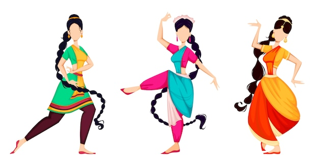 Happy onam. indian women dancing