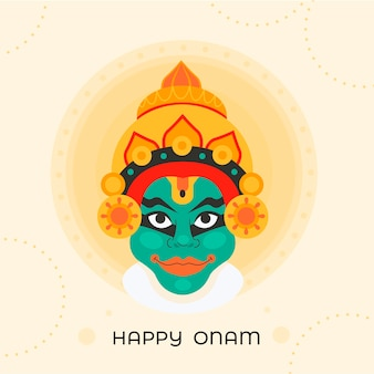 Happy onam with indian deity