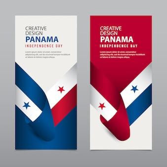 幸せなパナマ独立記念日クリエイティブデザインテンプレートイラスト