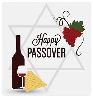 Happy passover background design