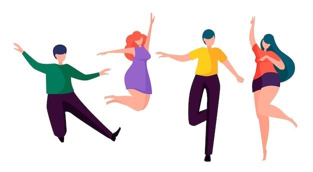 Happy people dancing