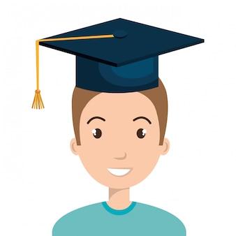 Happy person graduating design