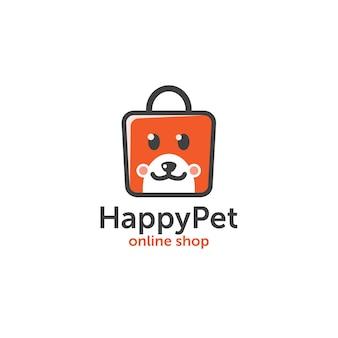 Happy pet shop logo