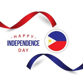 ハッピーフィリピンの独立した日のベクトルのテンプレートデザイン