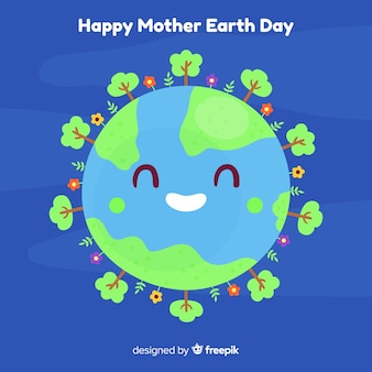 Happy planet mother earth day background