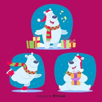 Happy polar bear christmas collection