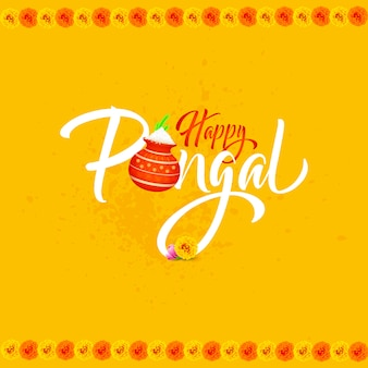 Happy pongal background card.