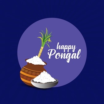 Happy pongal background. vector