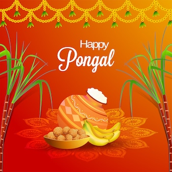 Happy pongal background.