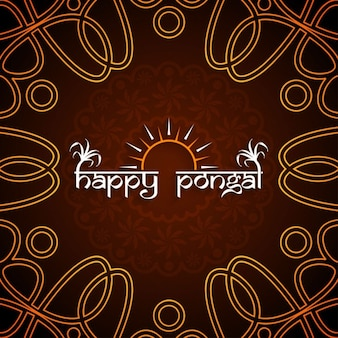 Happy pongal, brown background