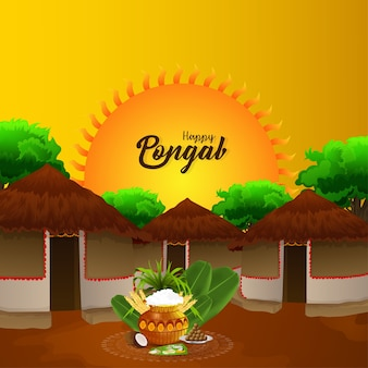 Happy pongal card background