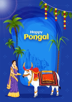 Happy pongal card.