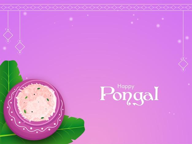 Happy pongal celebration concept
