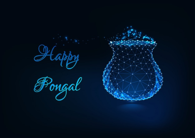 Happy pongal greeting card