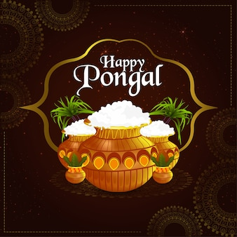 Happy pongal greetings celebration