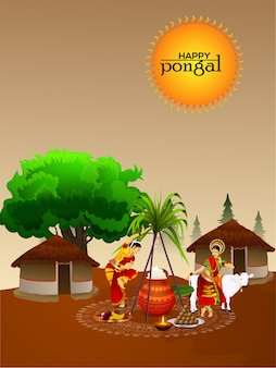 Happy pongal poster design