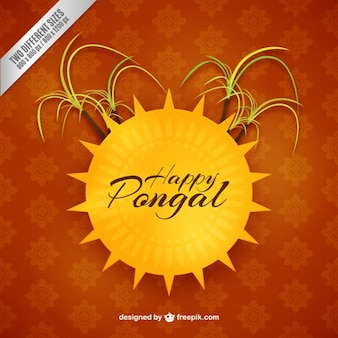 Happy pongan background with a sun