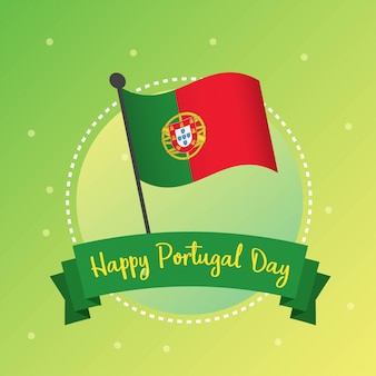 Happy portugal day illustration